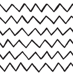 Abstract hand drawn zig zag lines seamless vector