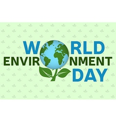 World environment day background template world vector