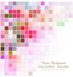 abstract background with colored squares vector image vector image
