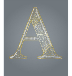 Abstract golden letter a vector