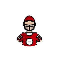 American football flat icon vector image vector image