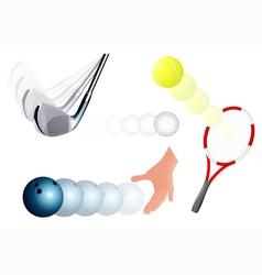 Ball kick set vector image