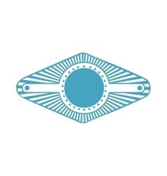 Blue stamp abstract art deco emblem vector