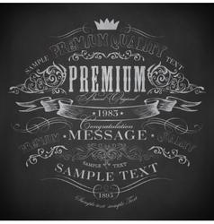 Chalk typography calligraphic vector