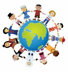 Childrens of the world vector