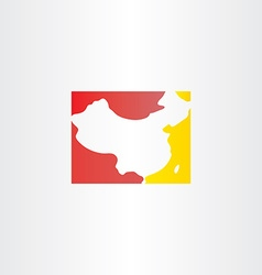 China logo map icon vector
