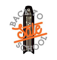 Color vintage back to school sale emblem vector