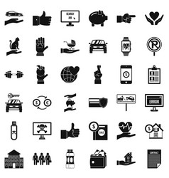 Device icons set simple style vector