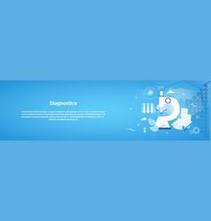 Diagnostics medical treatment web horizontal vector