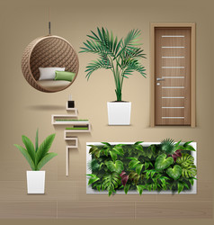 eco-minimalist furniture vector image
