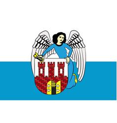 Flag of torun in kuyavian-pomeranian voivodeship vector
