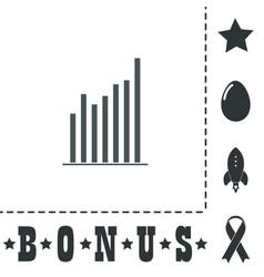 Graph chart sign icon diagram symbol statistics vector