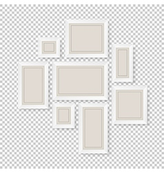 Group of white frames vector