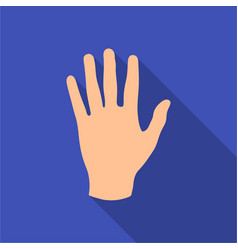 Hand icon in flat style isolated on white vector