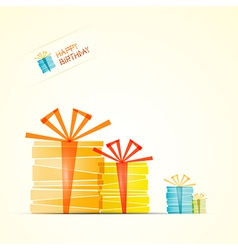 Happy Birthday Theme Present Boxes vector image vector image