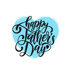 happy fathers day calligraphic inscription vector image vector image