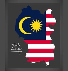 Kuala lumpur malaysia map with malaysian national vector
