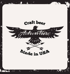 label craft beer vector image vector image