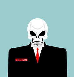 Mr Deadline Death of a businessman in a suit vector image vector image