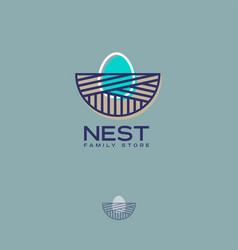 nest logo family store egg vector image