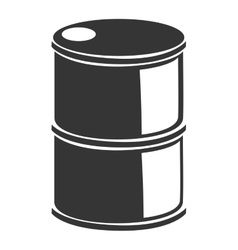 Oil barrel petreolum busines icon vector image