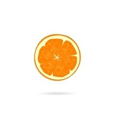 Orange slice icon isolated on white vector image
