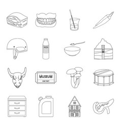 Organ medicine finance and other web icon in vector