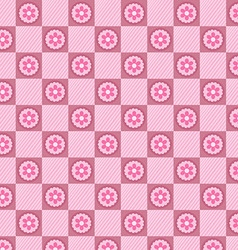 Pink plaid pattern vector