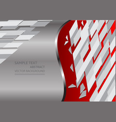 Red and gray abstract background with copy space vector