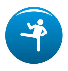 Stick figure stickman icon blue vector