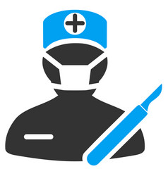 Surgery flat icon vector