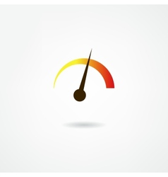 tachometer icon vector image
