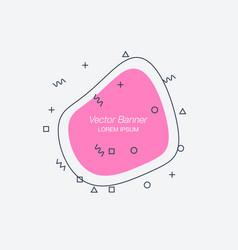 trendy flat geometric banners vector image
