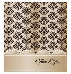 Vintage card with damask ornament vector image