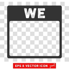 Wednesday calendar page eps icon vector
