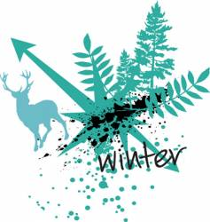 winter sport design vector image vector image