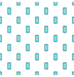 Warning on mobile phone pattern cartoon style vector