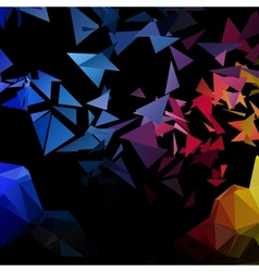 Triangles explosion background poligonal-art vector