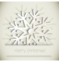 New year snowflakes vector
