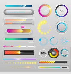 progress loading bar indicators download progress vector image
