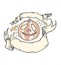 jack-o-lantern banners vector image