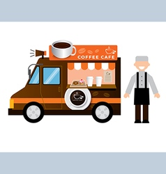 Food truck coffee vector