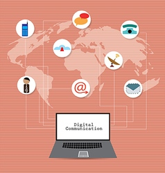 Global network communication concept vector