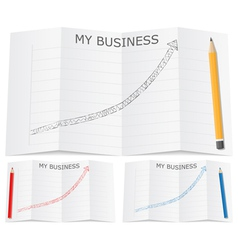 Hand drawn business graph vector