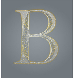Abstract golden letter b vector