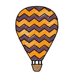 Air balloon icon vector