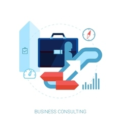 Career building and business development flat icon vector