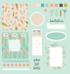 Collection of design elements for invitation vector