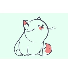 fat blue cat with a little round eyes vector image vector image
