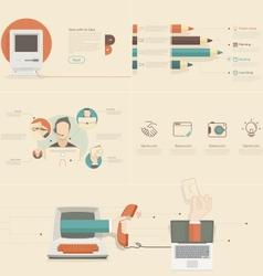 Flat infographics elements for slide presentation vector